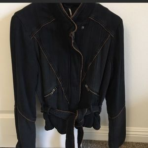 Navy Free People Motto Jacket Small
